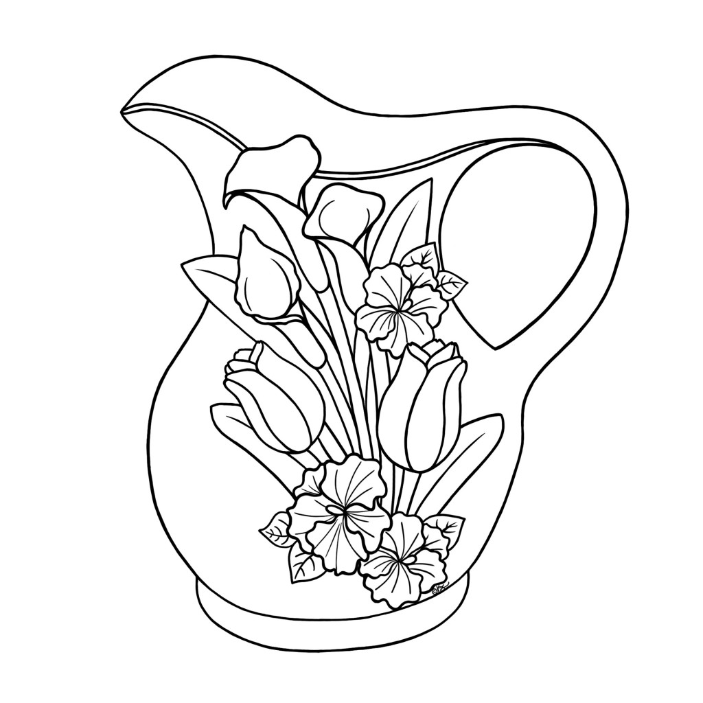 j for jug coloring pages - photo #15