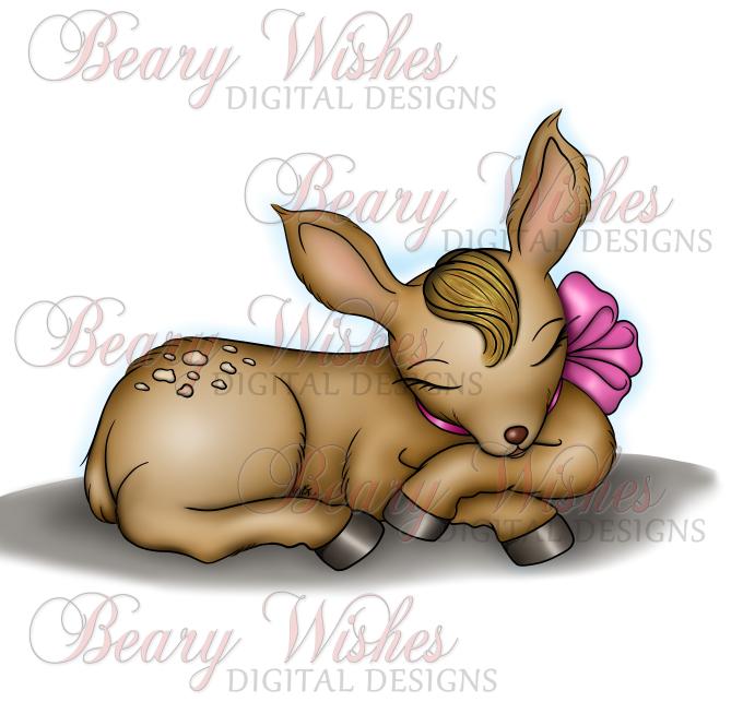 WM PINK BOW Sweet Deer
