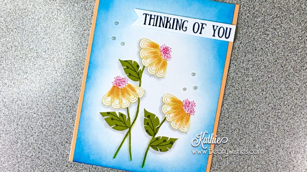 canadian stampin up demonstrator, stampin up, paper pumpkin, paper pumpkin august 2017, paper pumpkin aug 2017, alternate paper pumpkin, paper piecing, card making, card making Canada, paper crafting, paper crafting Canada, sympathy card, thanks card, stamping up demonstrator, Kathie zaban, bearywishes, stampinkathie, stampin Kathie, Stamping, thinking of you card, card making Canada, daisy card,